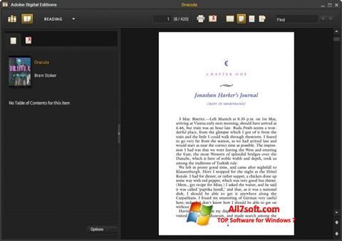 Στιγμιότυπο οθόνης Adobe Digital Editions Windows 7