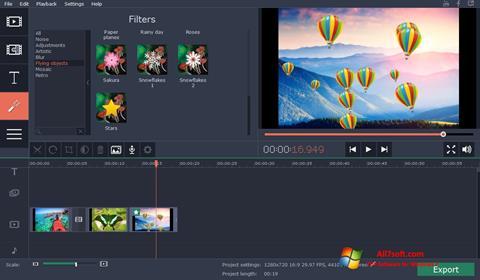 Στιγμιότυπο οθόνης Movavi Video Suite Windows 7