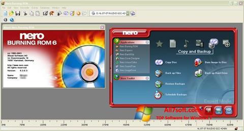 Στιγμιότυπο οθόνης Nero Burning ROM Windows 7