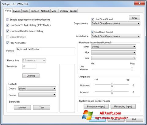 Στιγμιότυπο οθόνης Ventrilo Windows 7