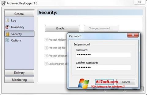 Στιγμιότυπο οθόνης Ardamax Keylogger Windows 7