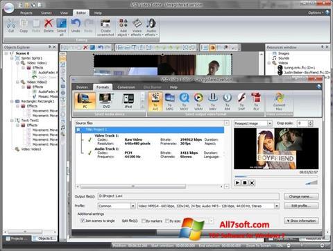 Στιγμιότυπο οθόνης Free Video Editor Windows 7