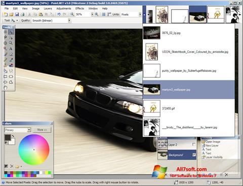 Στιγμιότυπο οθόνης Paint.NET Windows 7