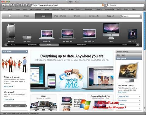 Στιγμιότυπο οθόνης Safari Windows 7