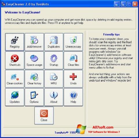 Στιγμιότυπο οθόνης EasyCleaner Windows 7