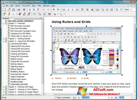 Στιγμιότυπο οθόνης Foxit PDF Editor Windows 7