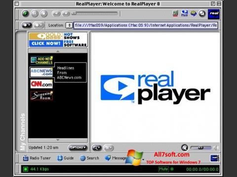Στιγμιότυπο οθόνης RealPlayer Windows 7
