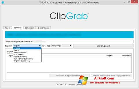 Στιγμιότυπο οθόνης ClipGrab Windows 7