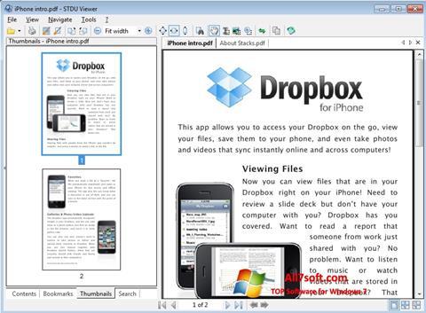Στιγμιότυπο οθόνης STDU Viewer Windows 7