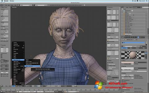 Στιγμιότυπο οθόνης Blender Windows 7