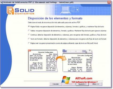 Στιγμιότυπο οθόνης Solid Converter PDF Windows 7