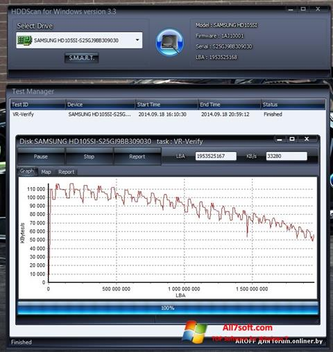 Στιγμιότυπο οθόνης HDDScan Windows 7