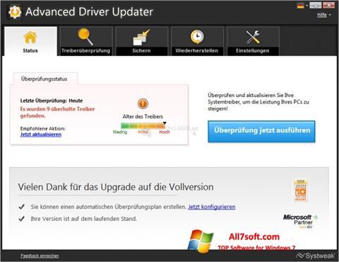 Στιγμιότυπο οθόνης Advanced Driver Updater Windows 7