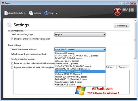 Στιγμιότυπο οθόνης Fast Folder Eraser Windows 7