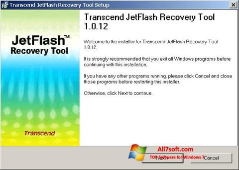 Στιγμιότυπο οθόνης JetFlash Recovery Tool Windows 7