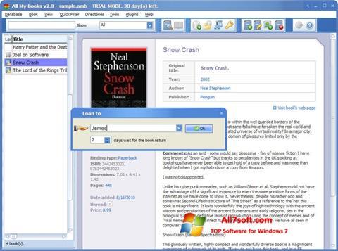 Στιγμιότυπο οθόνης All My Books Windows 7