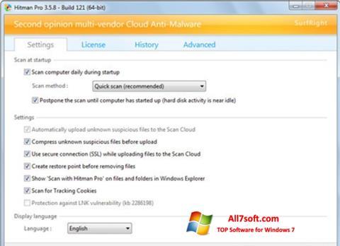 Στιγμιότυπο οθόνης HitmanPro Windows 7