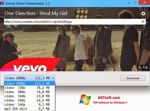 Στιγμιότυπο οθόνης Ummy Video Downloader Windows 7