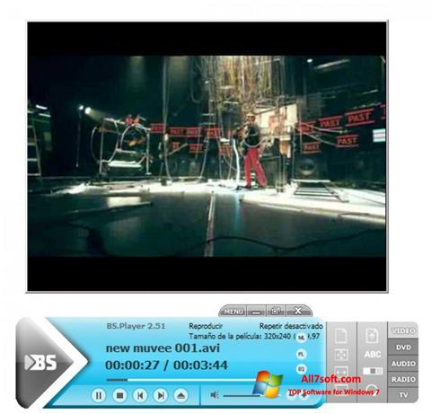 Στιγμιότυπο οθόνης BSPlayer Windows 7