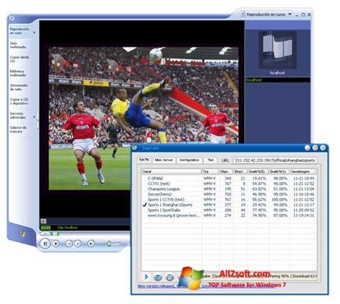 Στιγμιότυπο οθόνης SopCast Windows 7