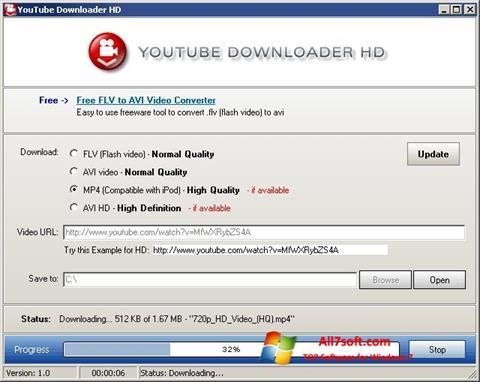 Στιγμιότυπο οθόνης Youtube Downloader HD Windows 7