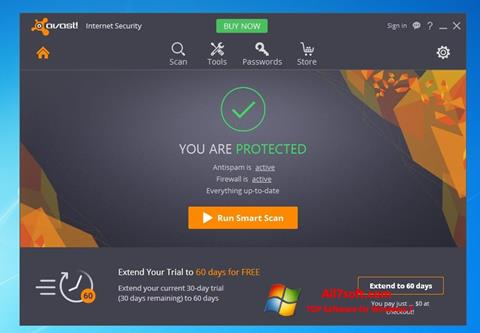 Στιγμιότυπο οθόνης Avast Internet Security Windows 7