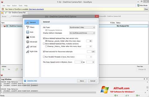 Στιγμιότυπο οθόνης GoodSync Windows 7