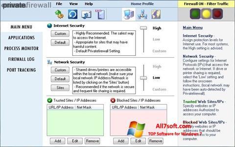 Στιγμιότυπο οθόνης Privatefirewall Windows 7