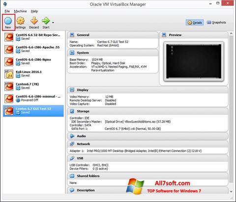 Στιγμιότυπο οθόνης VirtualBox Windows 7