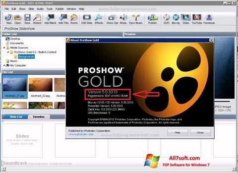 Στιγμιότυπο οθόνης ProShow Gold Windows 7