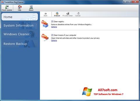Στιγμιότυπο οθόνης TweakNow RegCleaner Windows 7