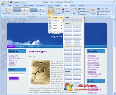 Στιγμιότυπο οθόνης Artisteer Windows 7