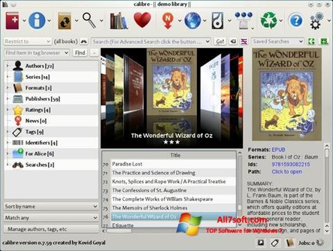 Στιγμιότυπο οθόνης Calibre Windows 7