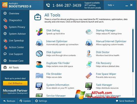Στιγμιότυπο οθόνης Auslogics BoostSpeed Windows 7