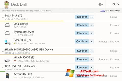 Στιγμιότυπο οθόνης Disk Drill Windows 7