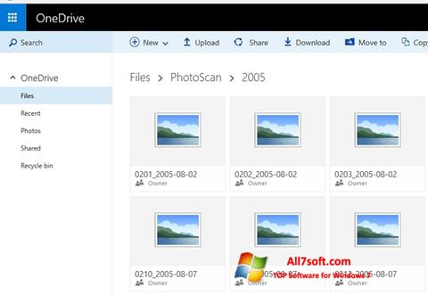 Στιγμιότυπο οθόνης OneDrive Windows 7