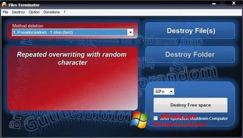 Στιγμιότυπο οθόνης Files Terminator Windows 7