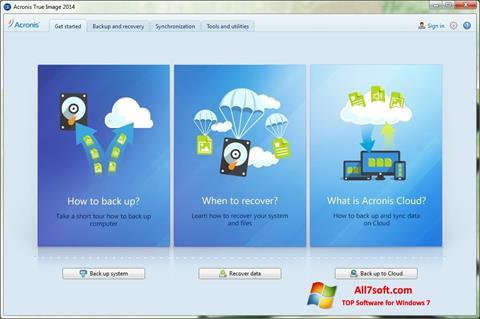 Στιγμιότυπο οθόνης Acronis True Image Windows 7