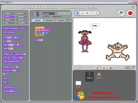 Στιγμιότυπο οθόνης Scratch Windows 7