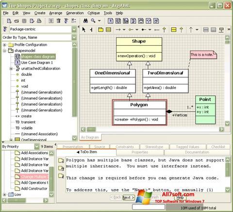 Στιγμιότυπο οθόνης ArgoUML Windows 7