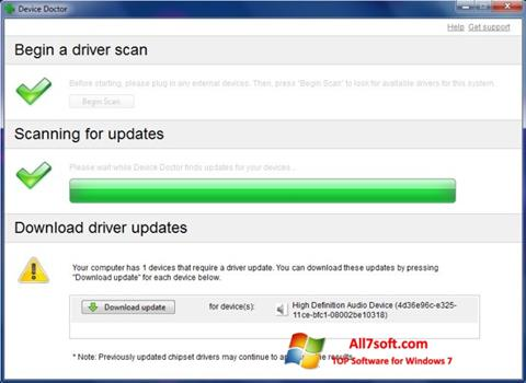 Στιγμιότυπο οθόνης Device Doctor Windows 7
