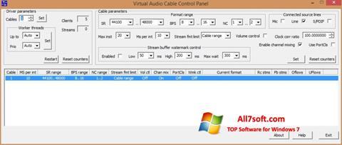 Στιγμιότυπο οθόνης Virtual Audio Cable Windows 7