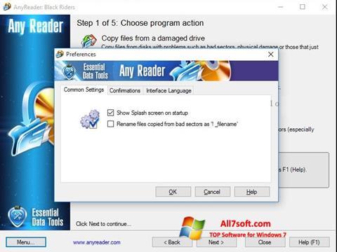 Στιγμιότυπο οθόνης AnyReader Windows 7