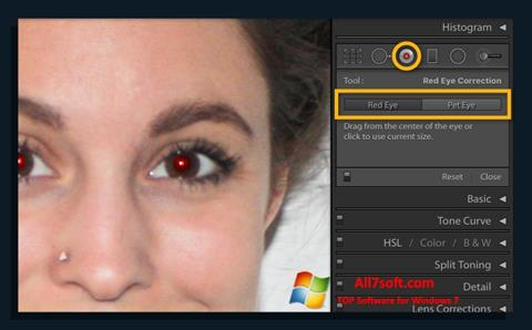 Στιγμιότυπο οθόνης Red Eye Remover Windows 7