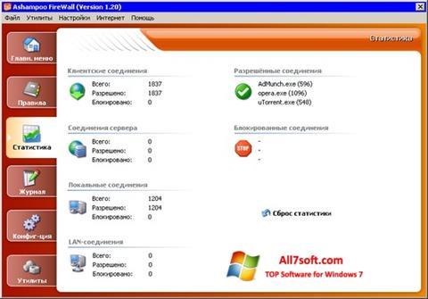 Στιγμιότυπο οθόνης Ashampoo Firewall Windows 7