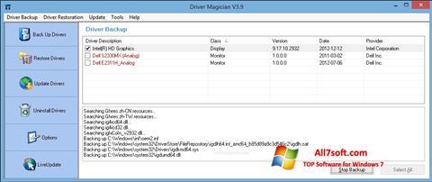 Στιγμιότυπο οθόνης Driver Magician Windows 7