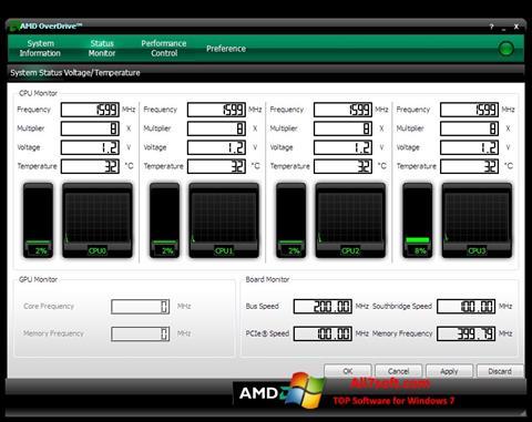 Στιγμιότυπο οθόνης AMD Overdrive Windows 7