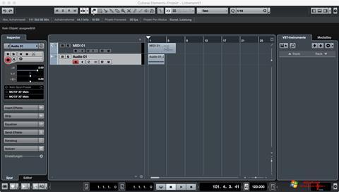 Στιγμιότυπο οθόνης Cubase Windows 7