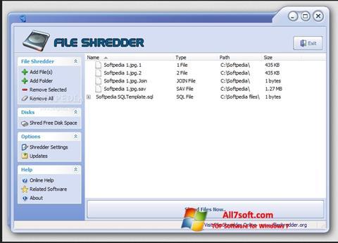 Στιγμιότυπο οθόνης File Shredder Windows 7