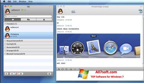 Στιγμιότυπο οθόνης QQ International Windows 7
